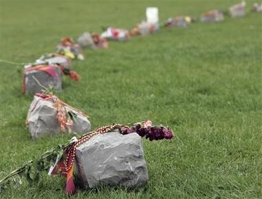 32-stone VT memorial