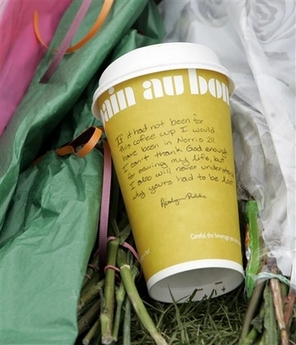 Coffee cup at VT memorial