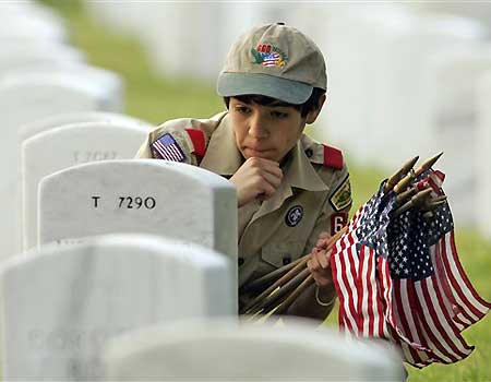 Boy Scout at National Cemetery