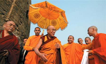 Dalai Lama and crew
