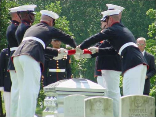 Arlington National Cemetery flag-folding ceremony
