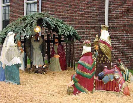 Nativity Scene in Berkley, Michigan