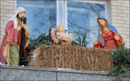 Green Bay City Hall Nativity scene