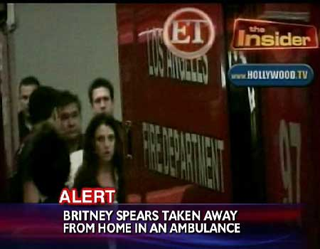 Britney Spears in ambulance