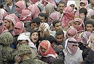 boy in Iraqi crowd