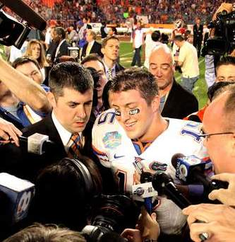 Tim Tebow after BCS Championship