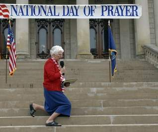 Praying on Capitol steps